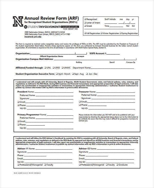 annual performance review forms - Idealvistalist - performance evaluation forms free