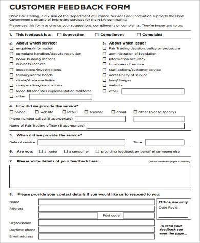 Feedback Form Word Template Jobbillybullock efficiencyexperts - free feedback form