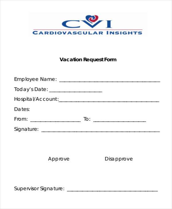 sample vacation request form - Deanroutechoice - vacation request form