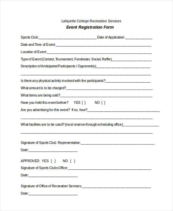 free registration form templates - Maggilocustdesign - Event Registration Form Template Word