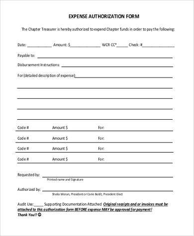 Sample Expense Authorization Forms - 7+ Free Documents in Word, PDF