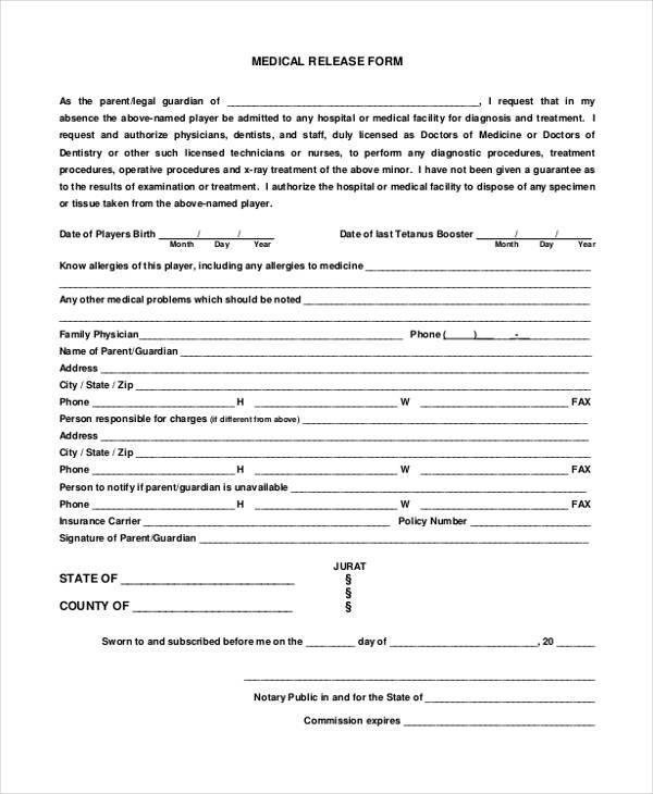 Okrva medical release form / Hotel 13 films nederlands - medical release forms