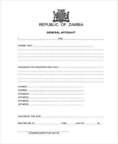 Free General Affidavit Form Download cvfreepro - general affidavit form