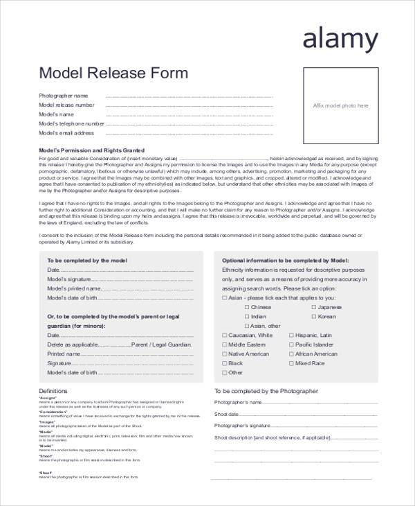 Free Release Forms