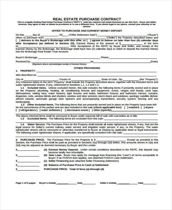 38 Sample Free Contract Forms - free printable contract for deed