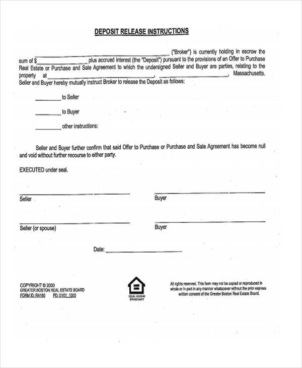 8+ Real Estate Release Form Samples - Free Sample, Example Format - release of interest form