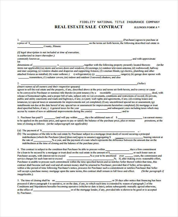 38 Sample Free Contract Forms