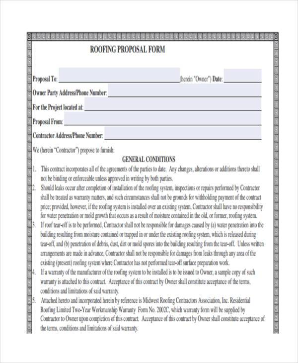 Roofing Proposal \ How To Understand A Roofing Contract Or Bid - roofing contract template