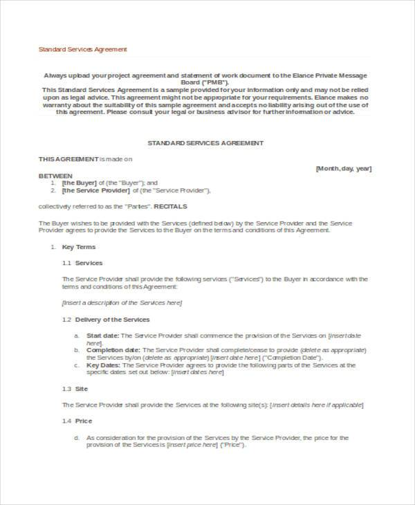 Service Agreement Contract Colbro