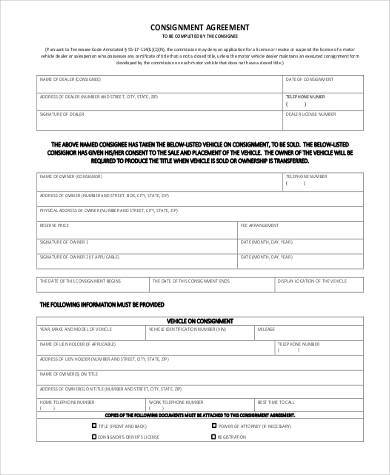 Simple Agreement Forms - 31+ Free Documents in Word, PDF - consignment form template