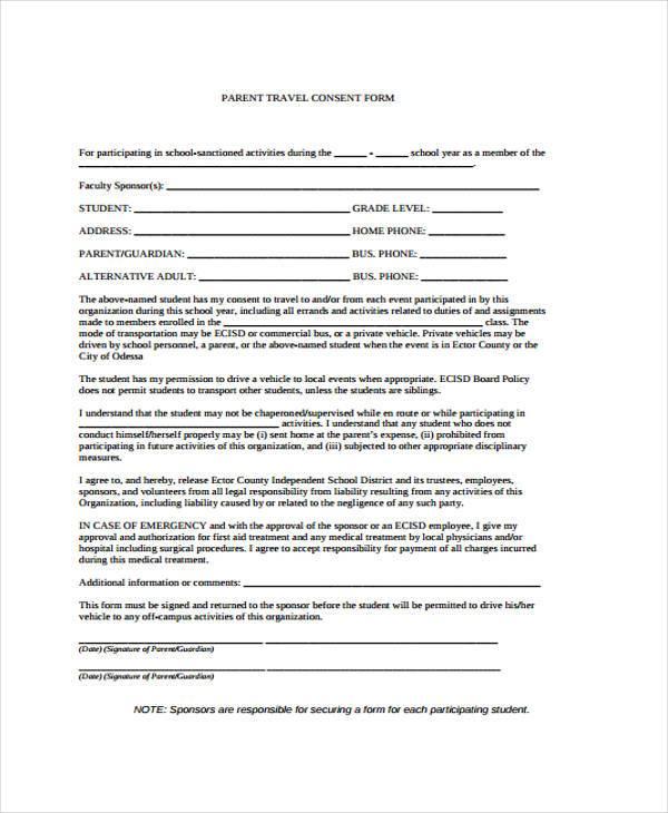 parental travel consent howtobillybullock - travel consent form sample