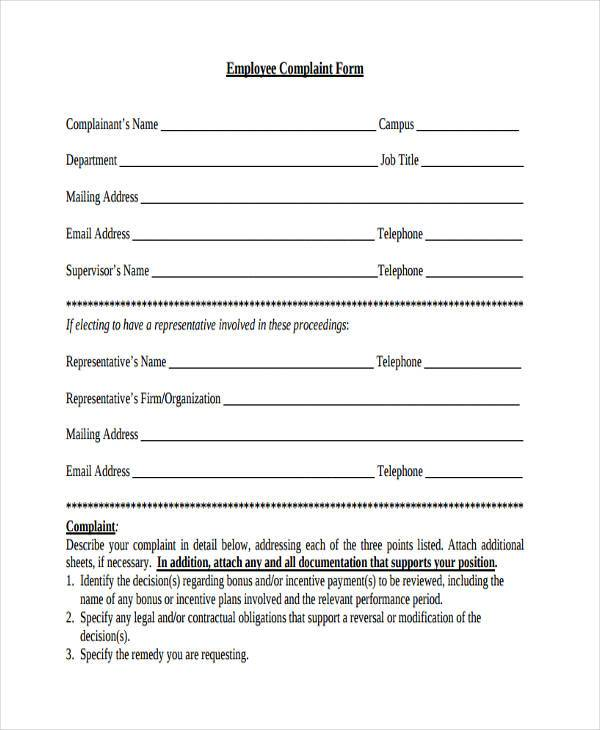 7+ General Complaint Form Samples - Free Sample, Example Format Download