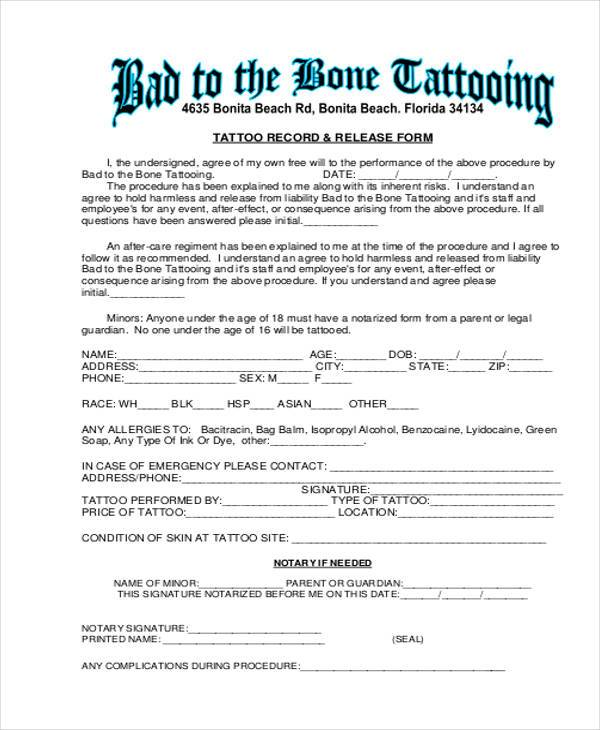 Generic Release Forms - free printable release of liability form