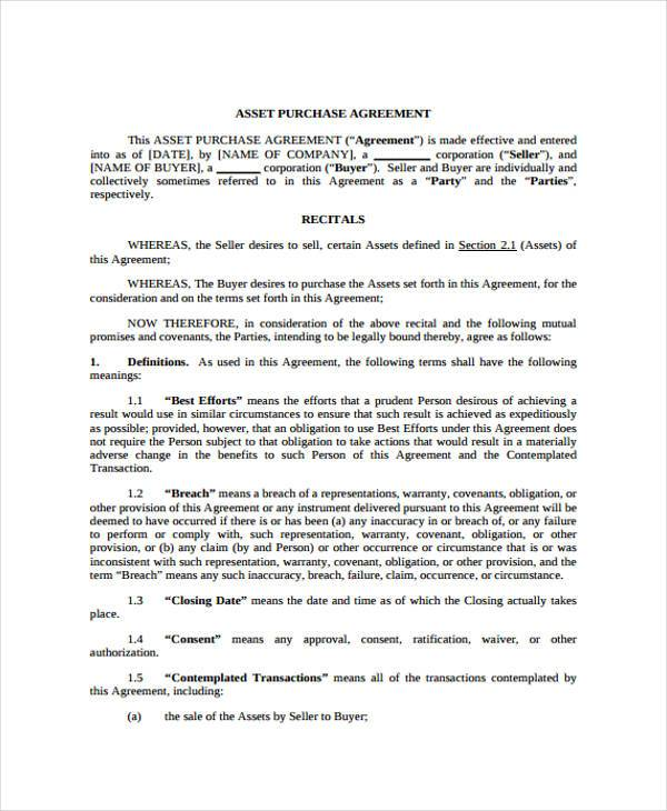 10+ Generic Purchase Agreement Form Samples - Word, PDF