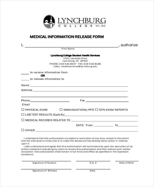 Generic Release Of Liability Form. free printable liability ...