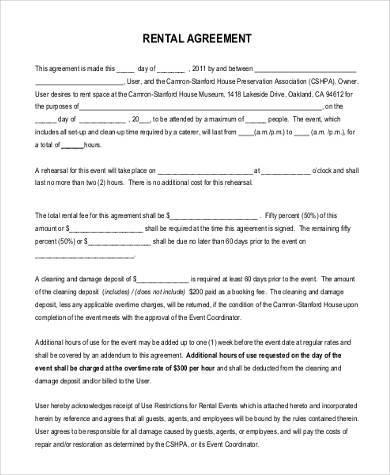 Sample Rental Agreement Forms - 23+ Free Documents in Word, PDF - sample generic rental agreement