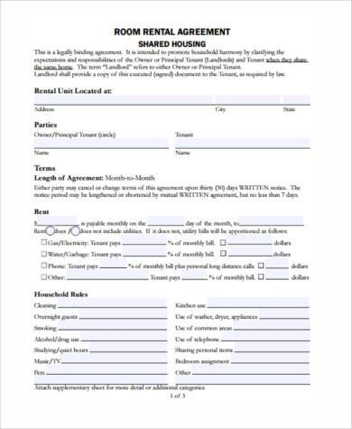 Generic Rental Agreement Form Samples - 8+ Free Documents in Word, PDF