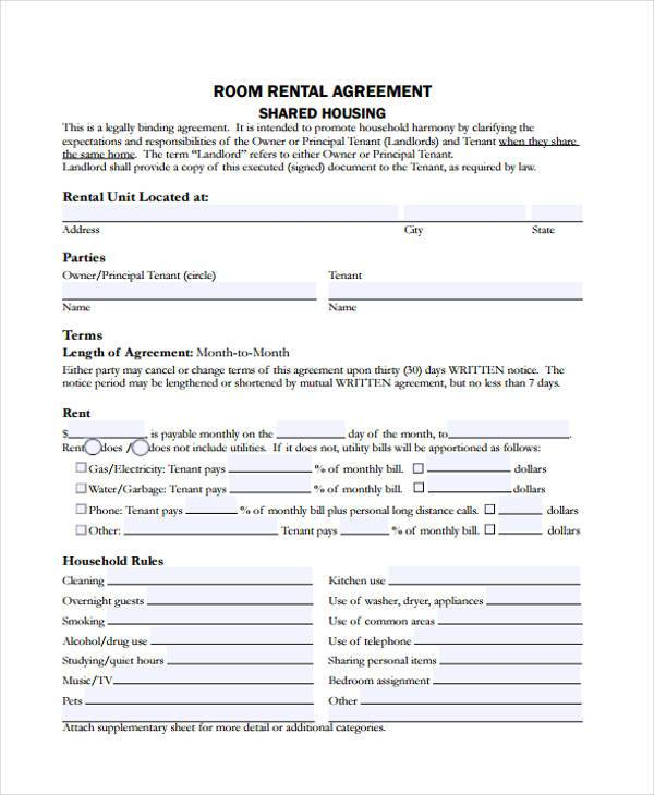 7+ Generic Rental Agreement Form Samples - Free Sample, Example