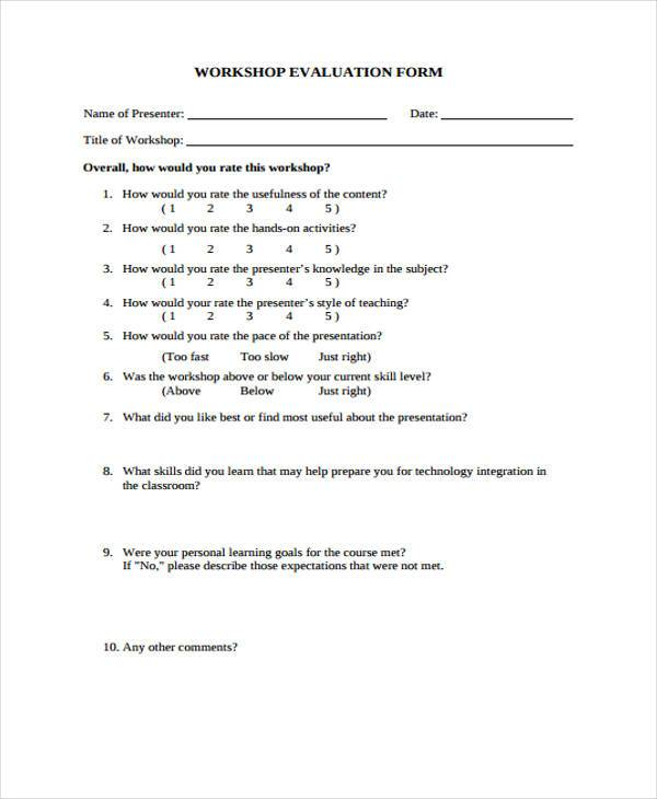 Generic Teacher Evaluation Form | Financial Analyst Interview
