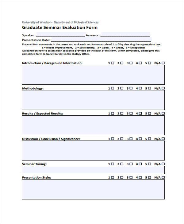 Workshop Evaluation Forms Sample kicksneakers - seminar evaluation form