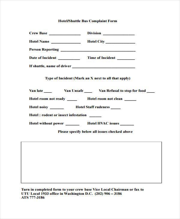... Doc#585556 Customer Complaint Form Examples U2013 Sample Customer    Sample Employee Complaint Form ...