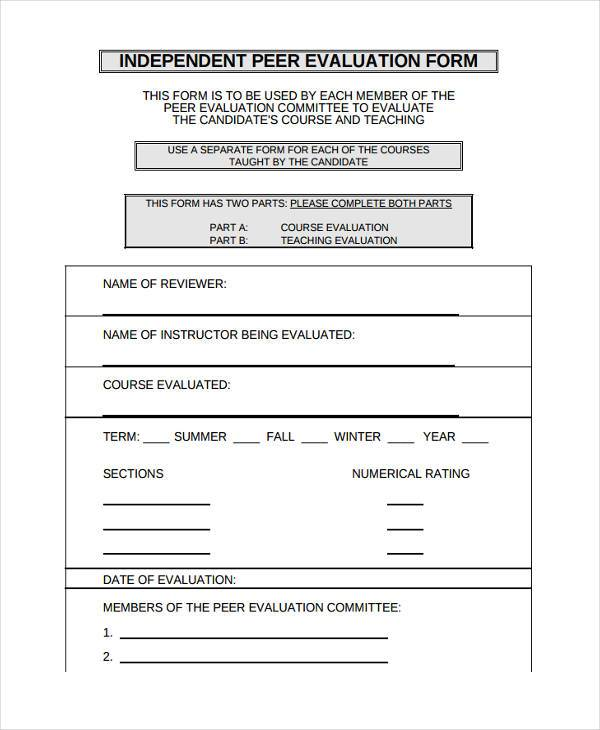 Sample Course Evaluation Form Best Resumes