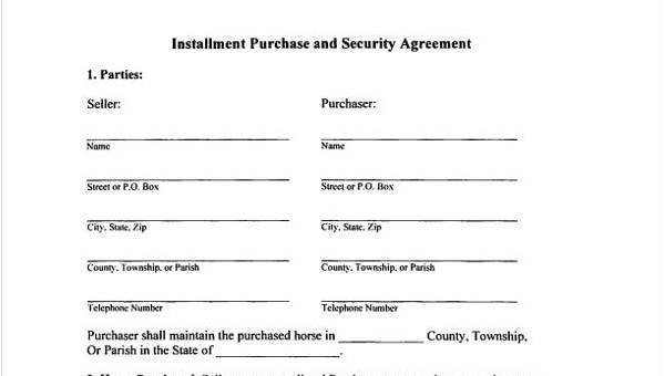 8+ Installment Agreement Sample Forms - Free Sample, Example Format