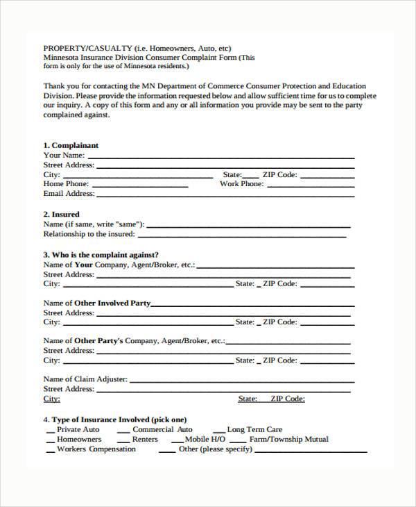 Charmant Sample Ftc Complaint Form | Cvresume.unicloud.pl