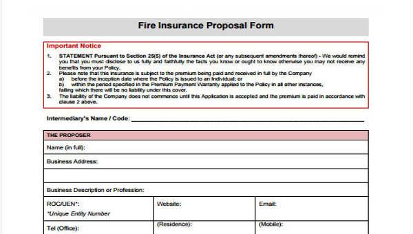 10+ Insurance Proposal Form Samples - Free Sample, Example Format
