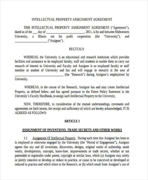 Assignment Agreement Lukex Co