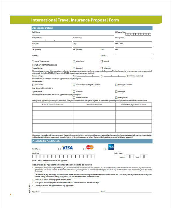 12+ Travel Proposal Form Samples - Free Sample, Example Format Download - travel quotation sample