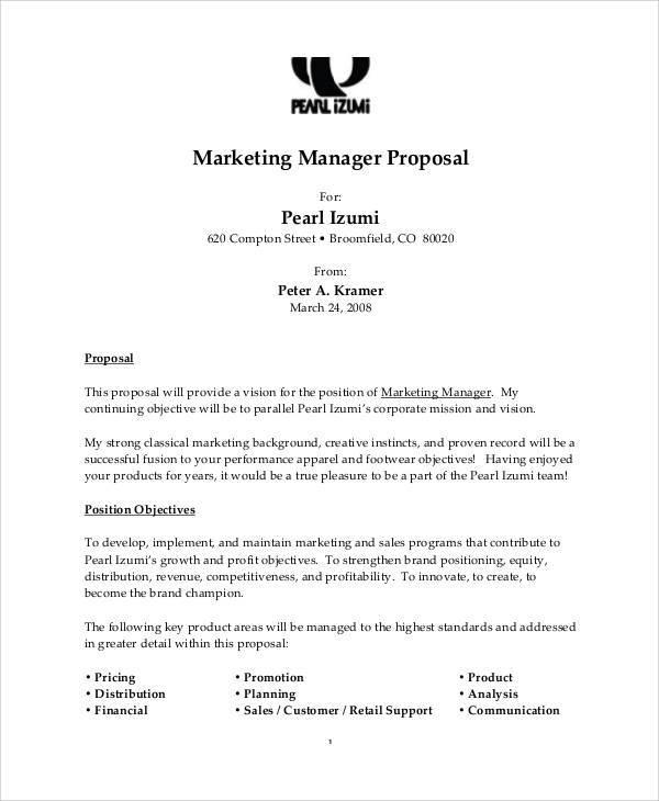 marketing proposal letter – Sample Marketing Proposal Template
