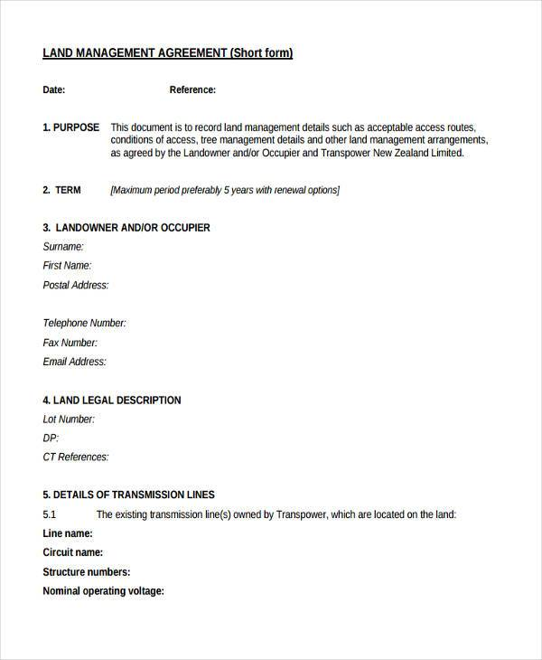 Sample Management Agreement Forms - 8+ Free Documents in Word, PDF - management agreement
