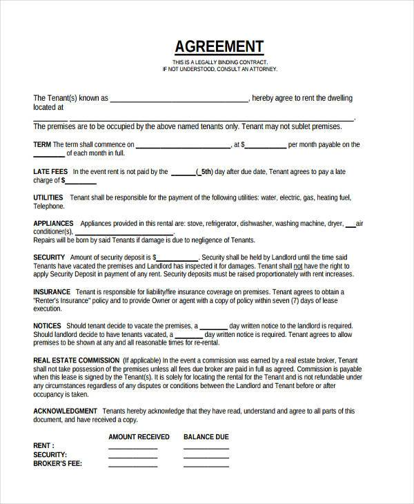 30+ Contract Agreement Forms - legal contract