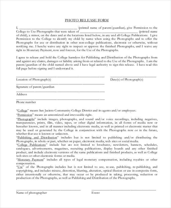 legal release form template | manager.billybullock.us