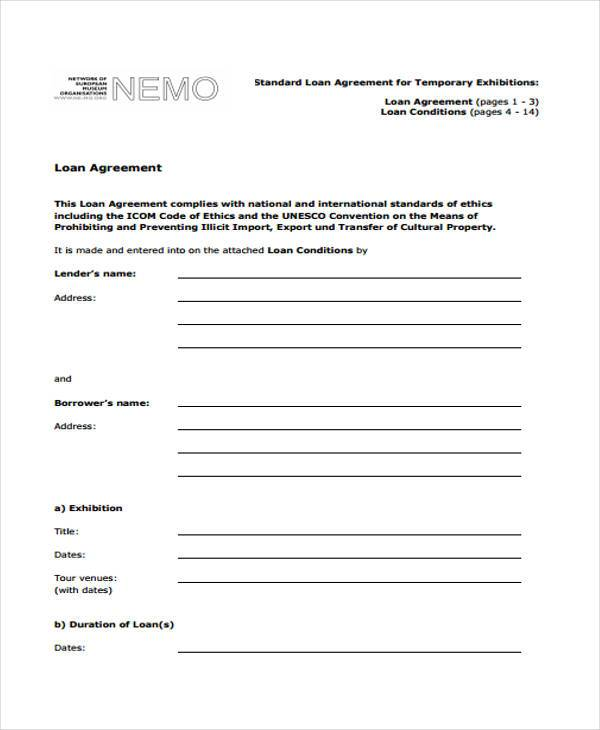 Loan Contract Template Printable Sample Personal Loan Agreement - free personal loan agreement form