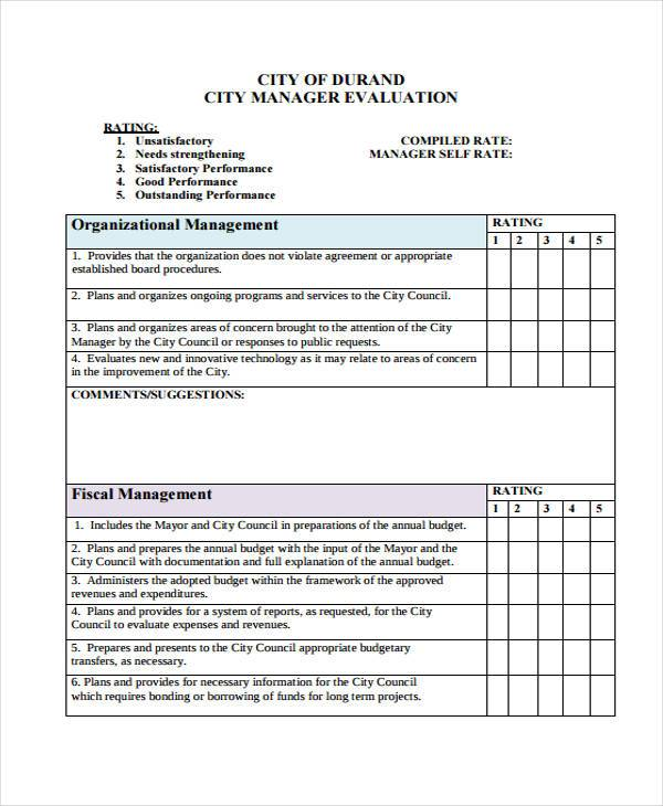Sample Manager Evaluation letter of appraisal resignation letter - manager evaluation template