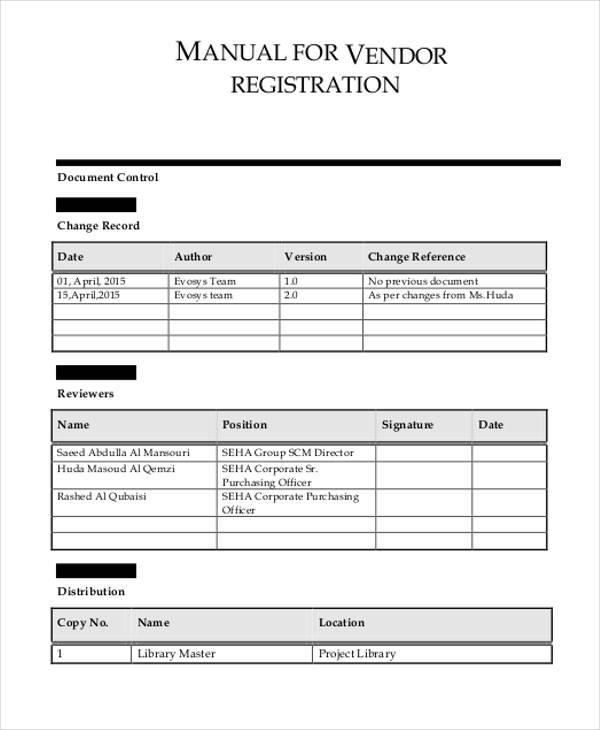 registration forms samples