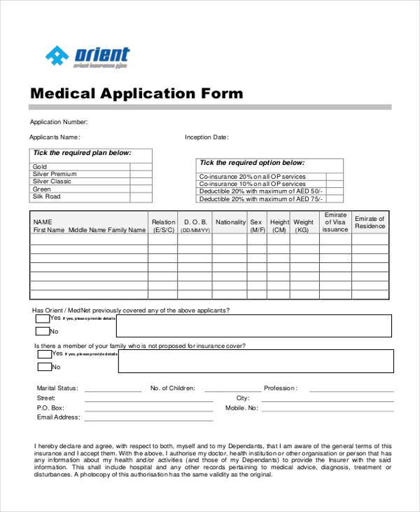 application form samples