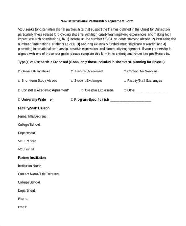 Partnership Template Agreement Images - Template Design Ideas - Partnership Agreement Format