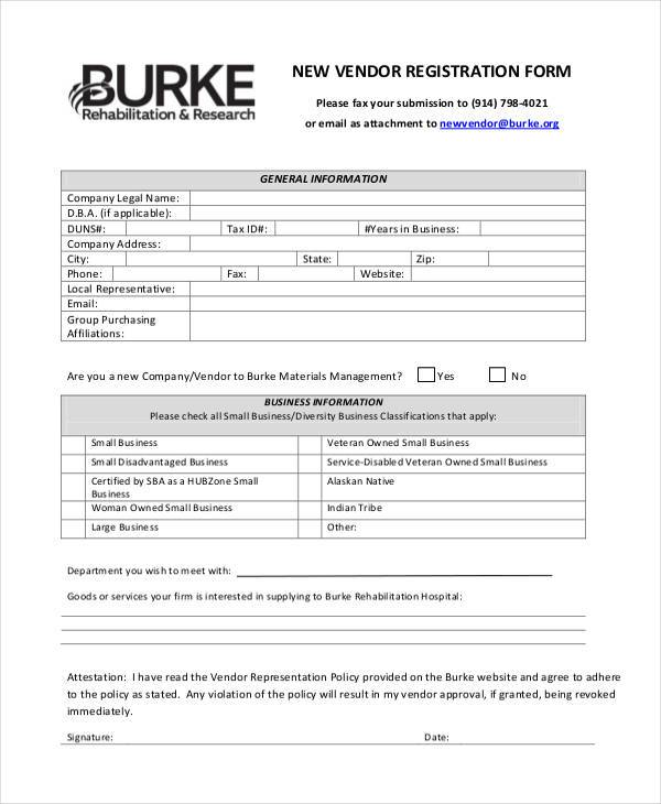 Registration Form Templates - company forms templates