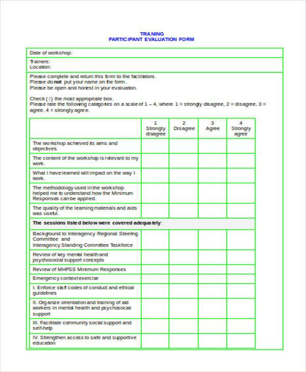 Example Of Employee Evaluation Form | Cover Letter Samples For