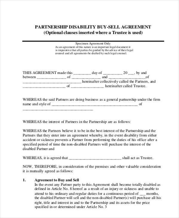 partnership buyout agreement template