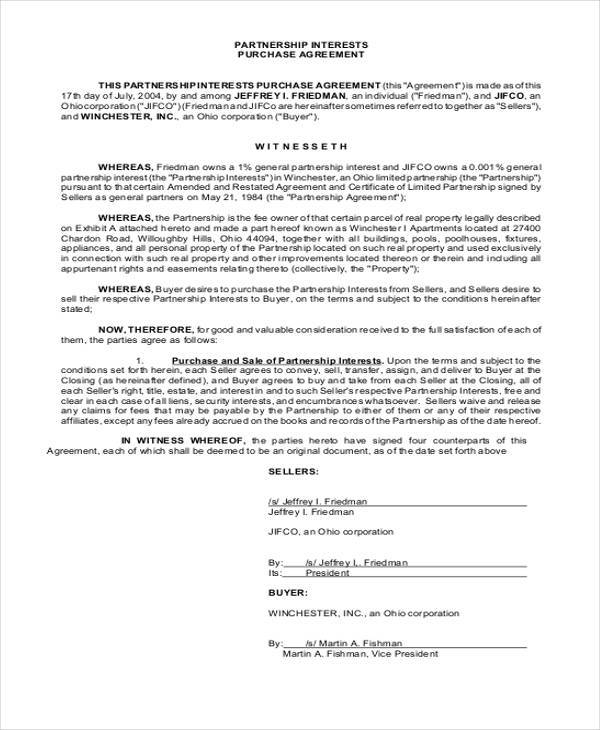 partnership agreement format – Sample Partnership Agreement Form