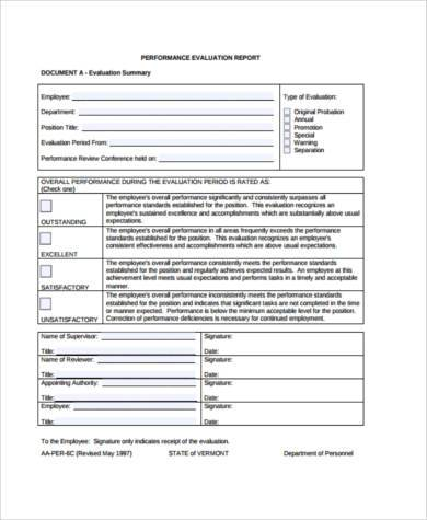 Sample Performance Report Forms - 8+ Free Documents in Word, PDF - performance report sample