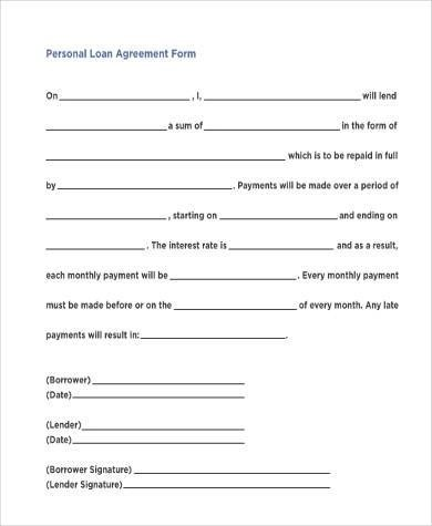 Basic Loan Agreement Templatebillybullock  - basic agreement
