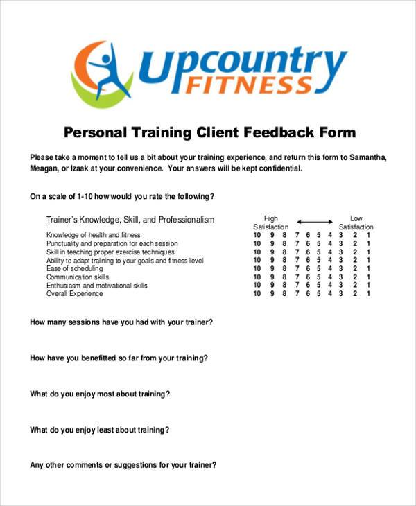 Superb Sample Client Feedback Forms 7 Free Documents In Word Pdf