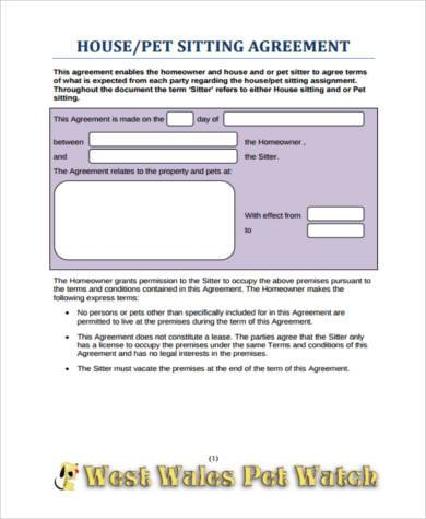 Sample Pet Agreement Forms - 9+ Free Documents in PDF