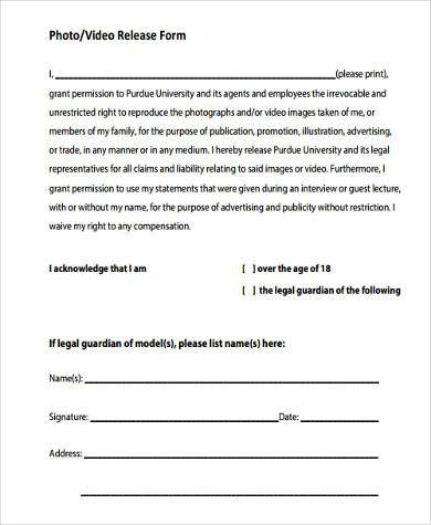 ... Photographer Release Form Samples   7+ Free Documents In Word, PDF   Photography  Release ...