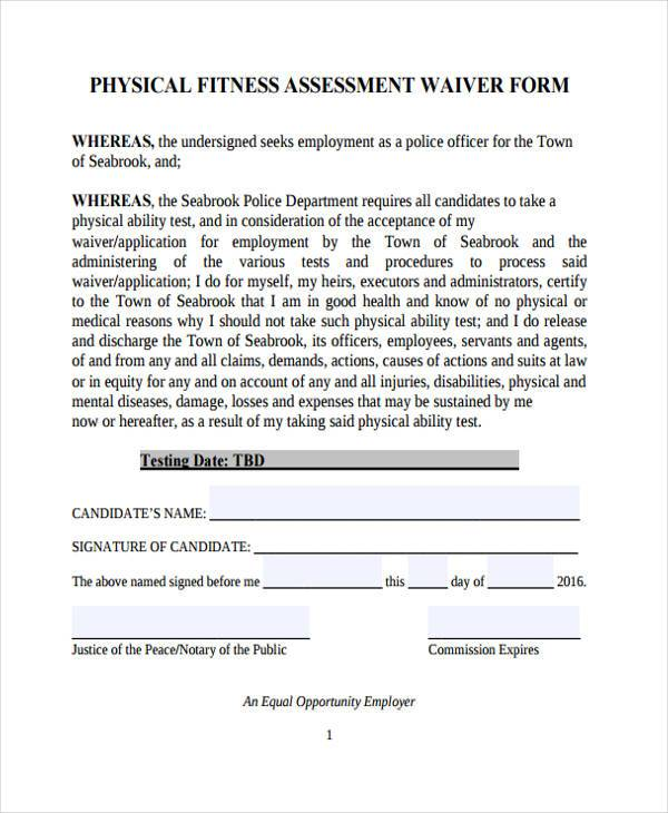 fitness assessment form fitness assessment data sheet name date age